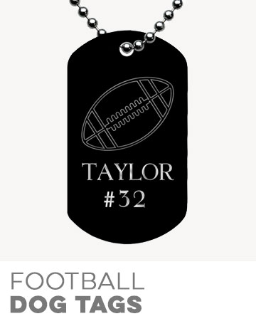 Football Dog Tags