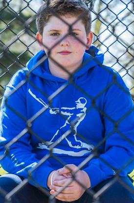 Shop Baseball Player Hooded Sweatshirt