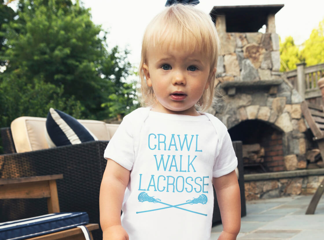 Crawl Walk Lacrosse Baby One Piece