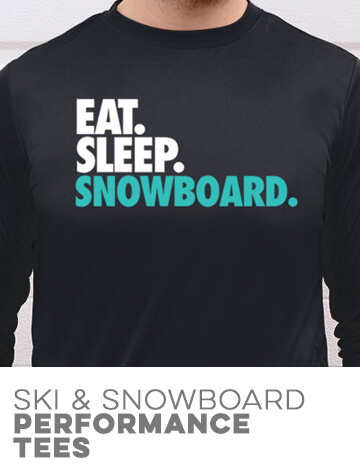 Skiing & Snowboarding Performance Tees