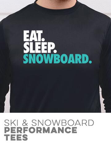 Skiing & Snowboarding Performance Tees