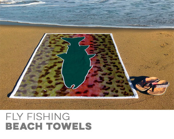 Fly Fishing Beach Towels