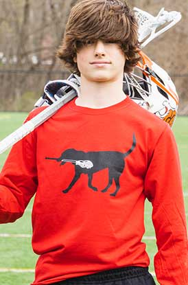 Shop Now Max The Lax Dog Long Sleeve Tee