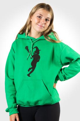 Girls Lacrosse Lax With Hooded Sweatshirt