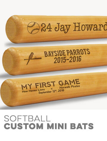 Custom Softball Mini Bats