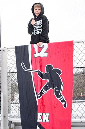 Player Number Hockey Blanket