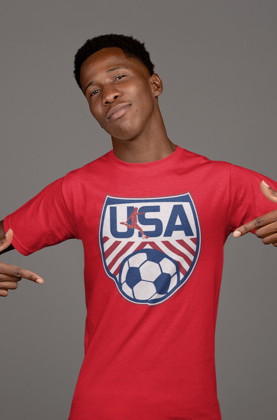 Shop Our Patriotic Soccer Tee