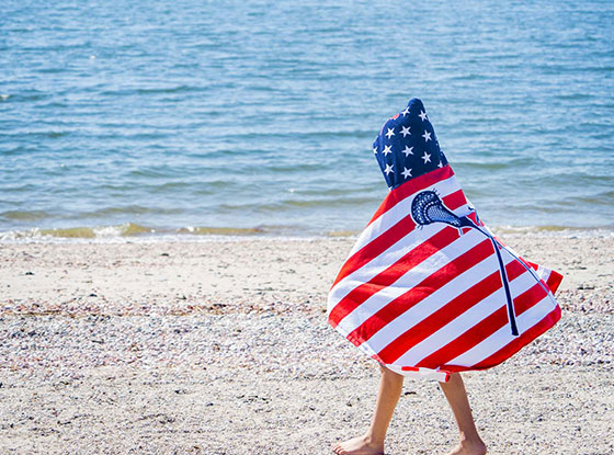 Shop NEW Lacrosse Hooded Beach Towels