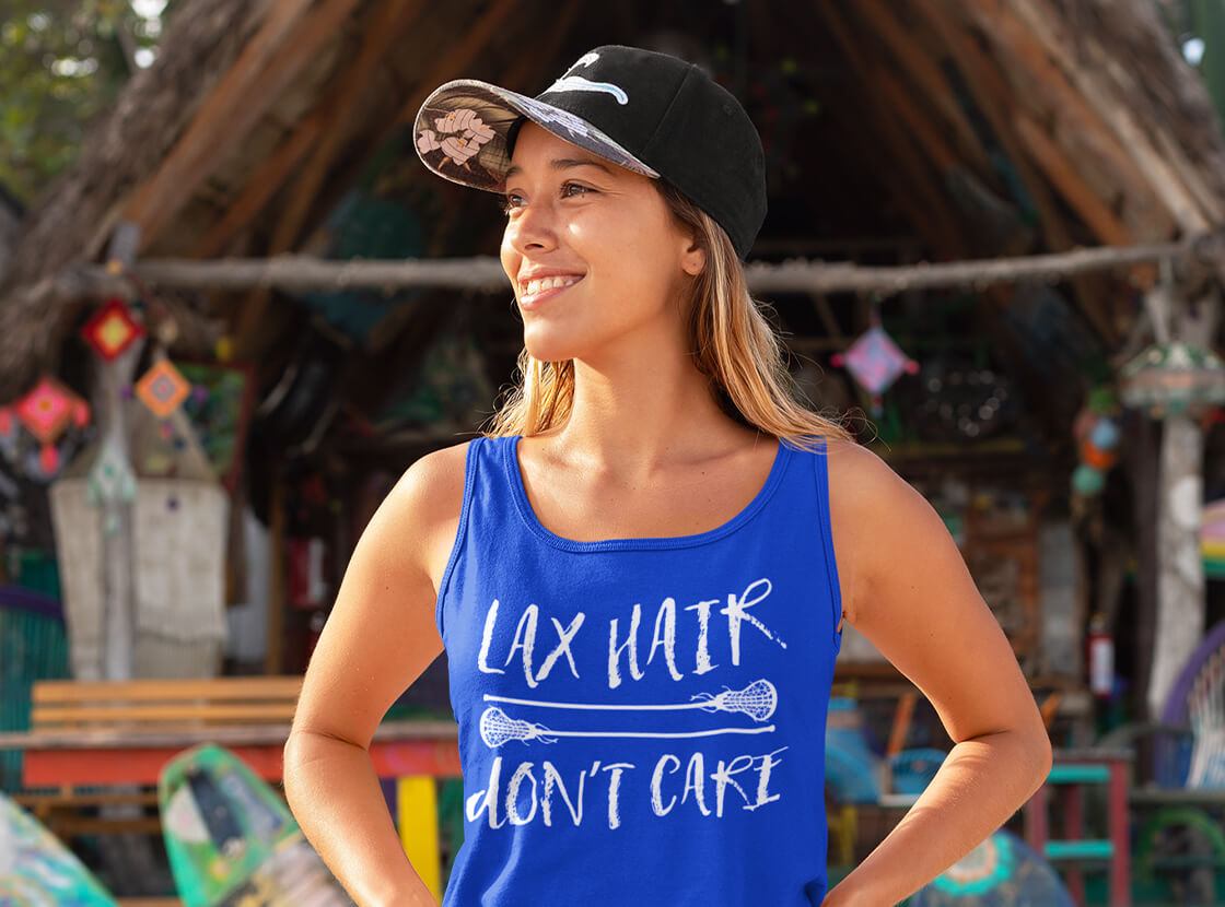 Lax Hair Don't Care Athletic Tank Top