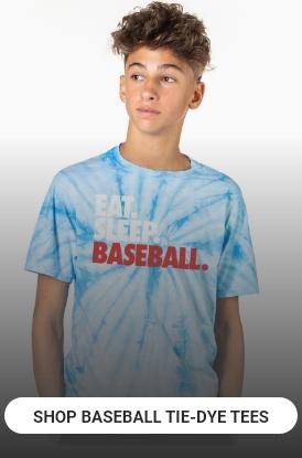 Shop Baseball Tie-Dye Tees