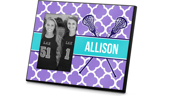 Girls Lacrosse Printed Frames