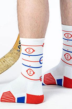 Shop Hockey Rink Woven Mid Calf Socks