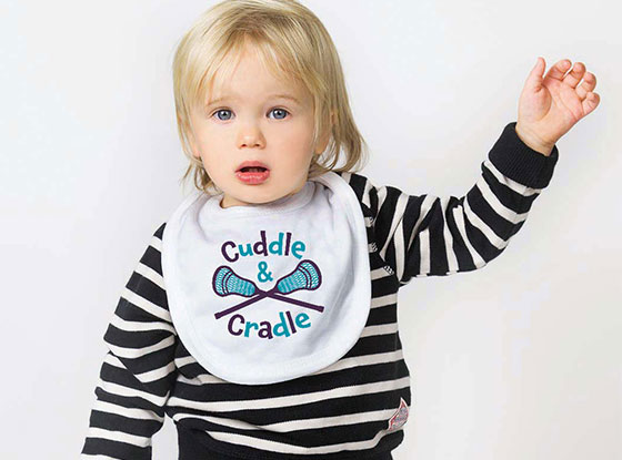 Cuddle and Cradle Lacrosse Bib