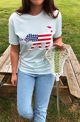 Patriotic LuLa the Lax Dog Short Sleeve T-Shirt