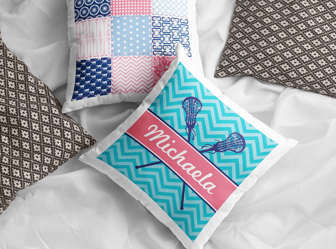 Shop Girls Lacrosse Throw Pillows