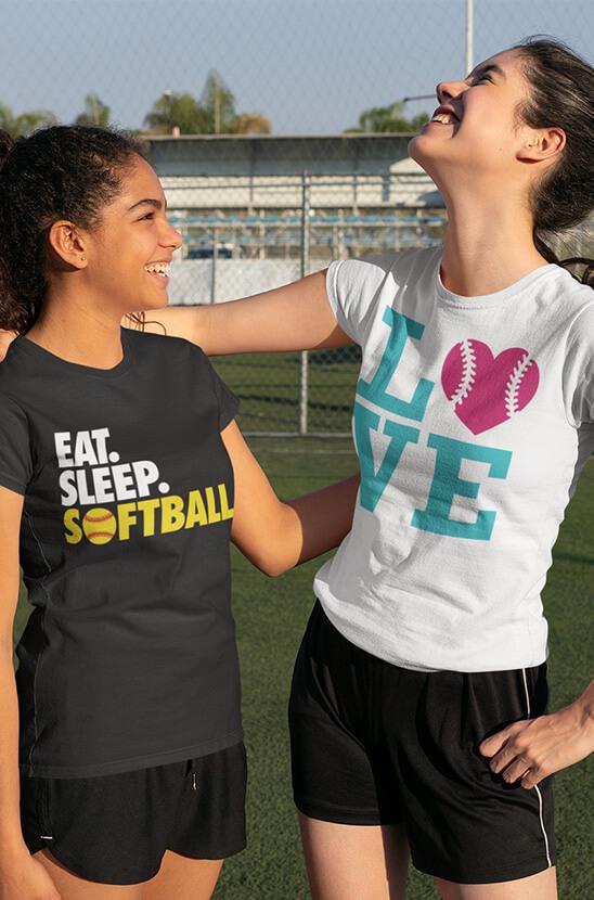 Shop Our Softball Short Sleeve Tees