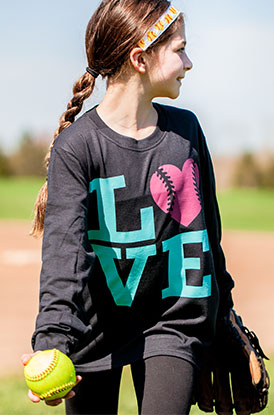 Shop LOVE Softball Long Sleeve Tee