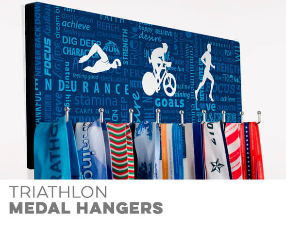 Triathlon Medal Hangers