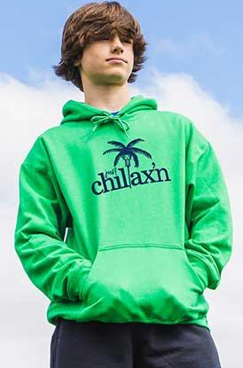 Shop Just Chilax'n Hooded Sweatshirt