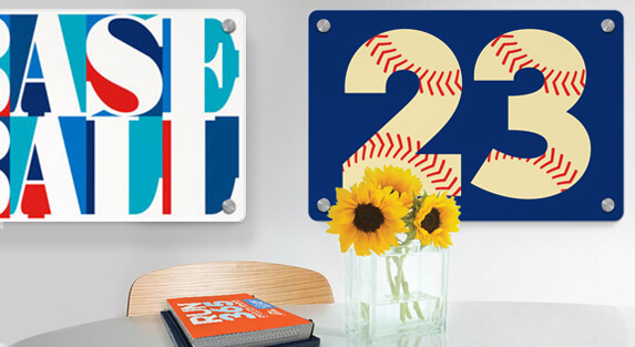 Baseball Metal Wall Art