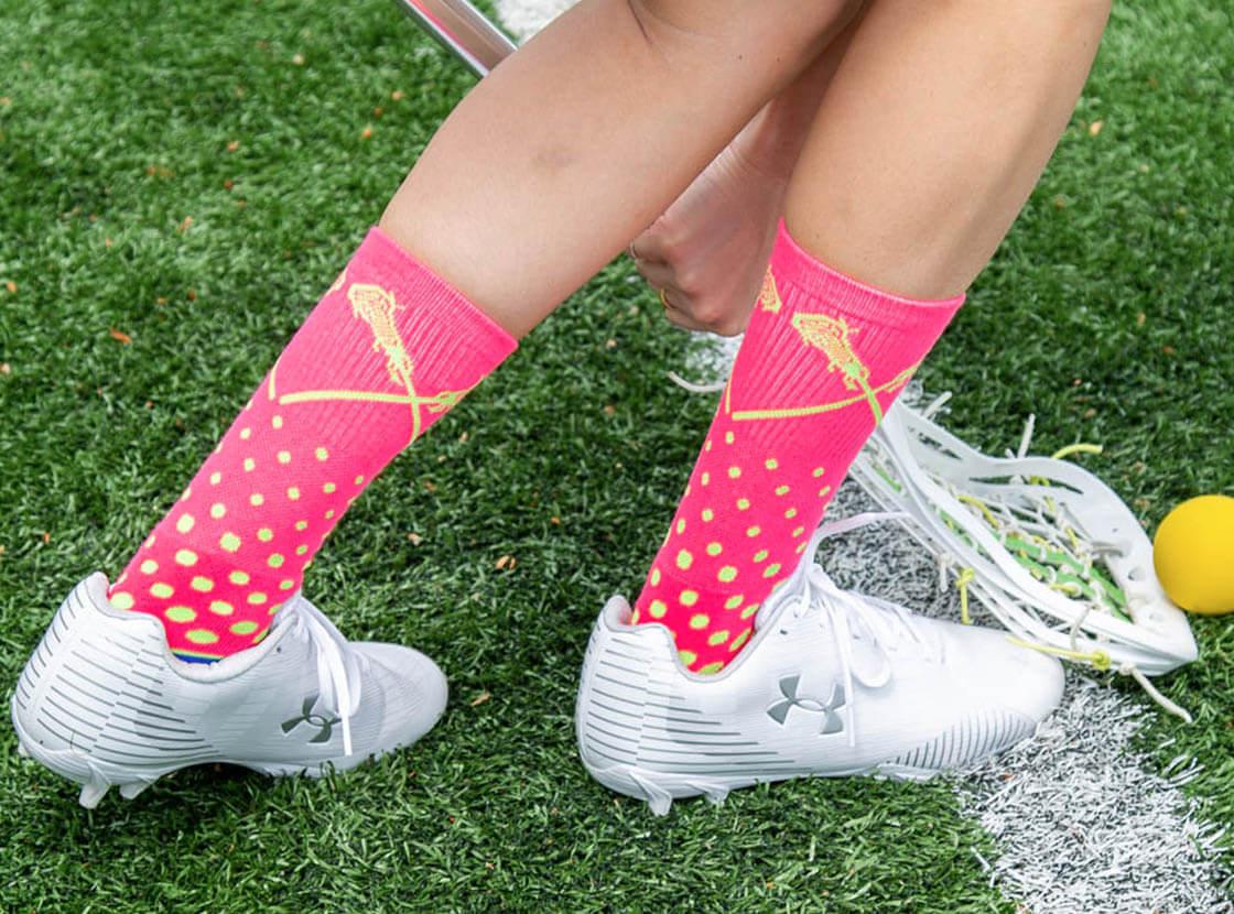 Girls Lacrosse Mid-Calf Socks