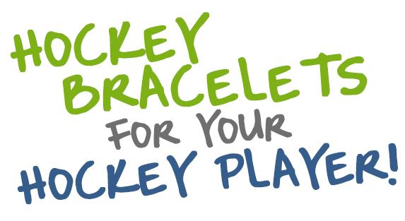 Hockey Metal and Bead Bracelets