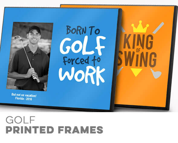 Golf Printed Frames