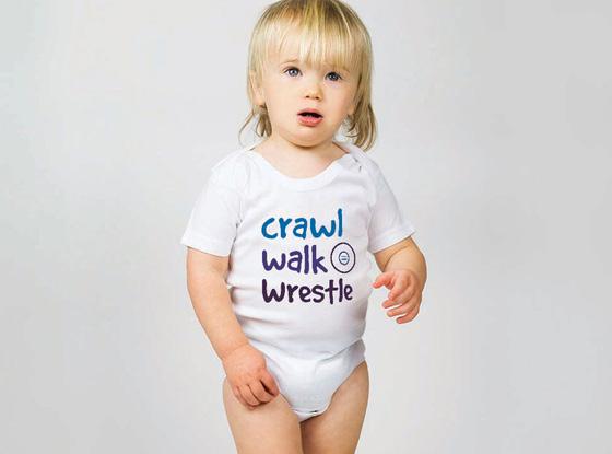 Crawl Walk Wrestle Baby One Pieces