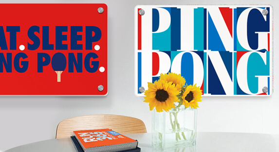 Ping Pong Metal Wall Art