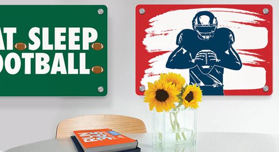 Football Metal Wall Art