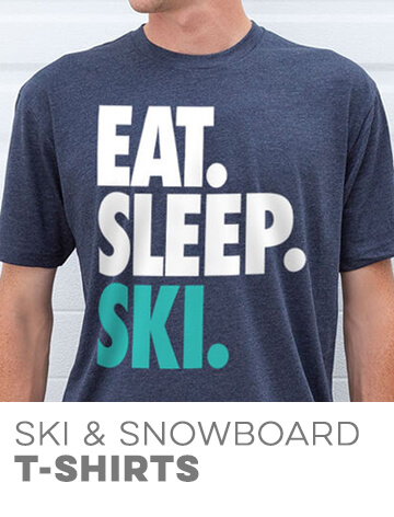 Skiing & Snowboarding Short Sleeve Tees