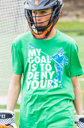 Shop My Goal Is To Deny Yours Defenseman Tees