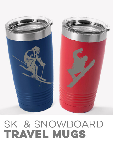 Skiing & Snowboarding Travel Mugs