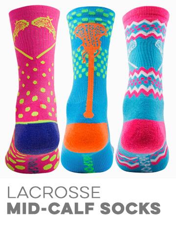 Girls Lacrosse Woven Mid-Calf Socks