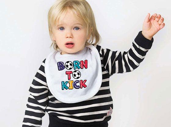 Born To Kick Soccer Bib