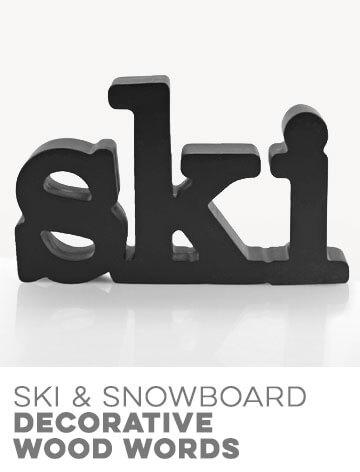 Ski Decorative Wood Words