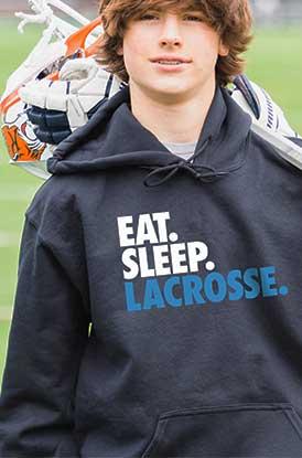 Shop Eat Sleep Lacrosse Hooded Sweatshirt