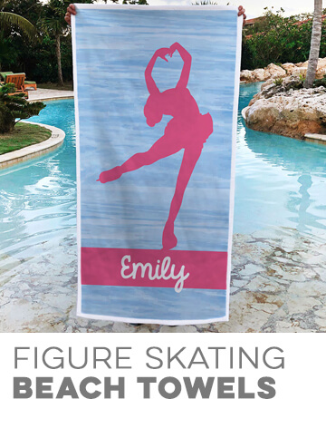 Figure Skating Premium Beach Towels