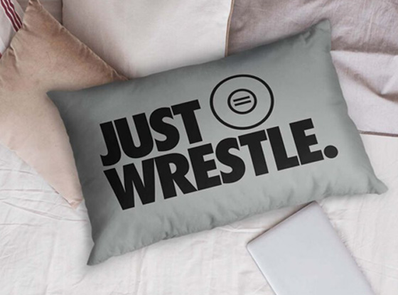 Just Wrestle Pillowcase