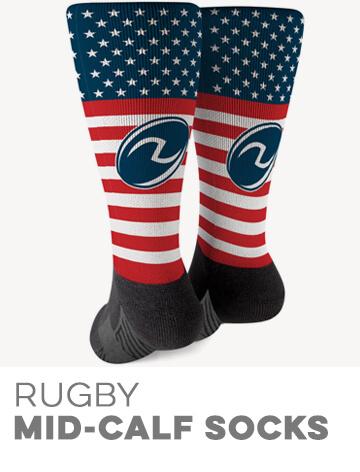 Rugby Printed Mid-Calf Socks