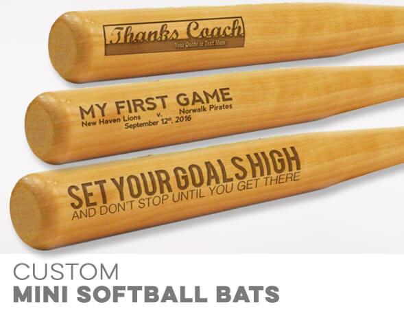 Custom Softball Mini Bats