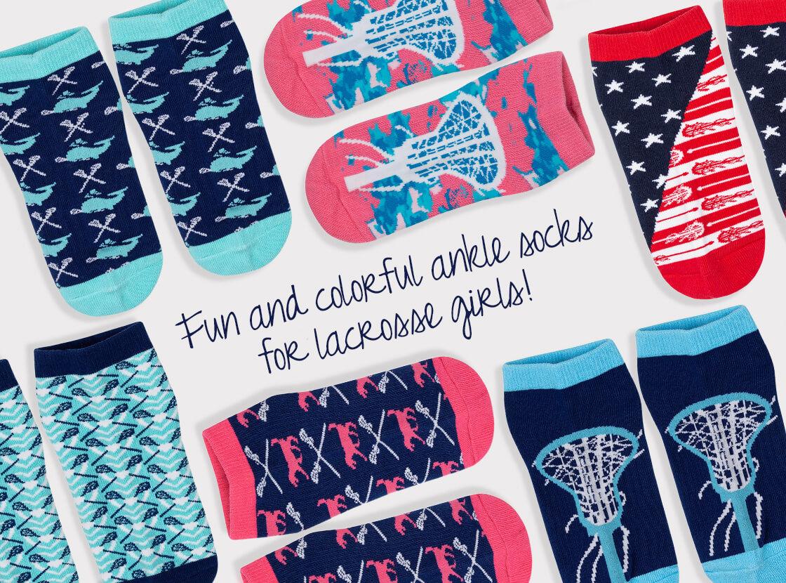 Girls Lacrosse Ankle Socks