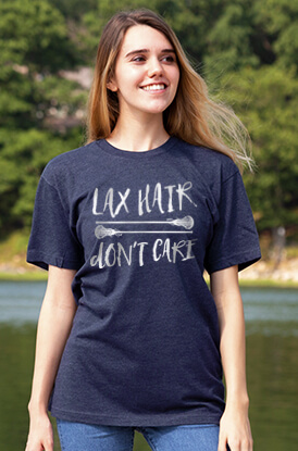 Lax Hair Don't Care Short Sleeve T-Shirt