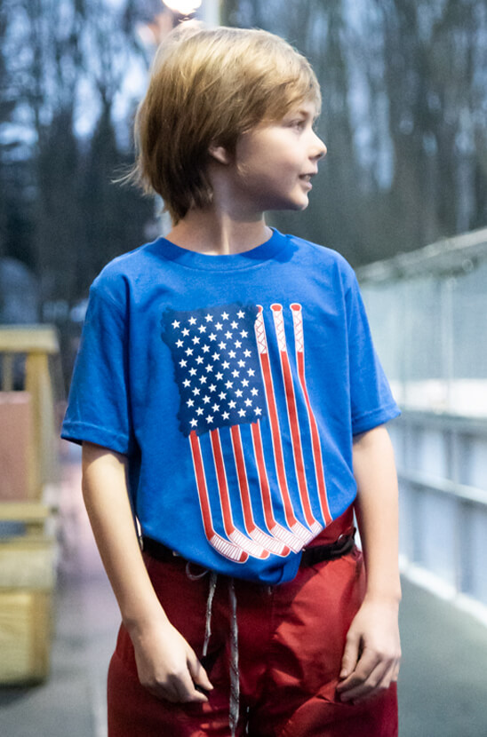 Shop Our Hockey Patriotic Tee