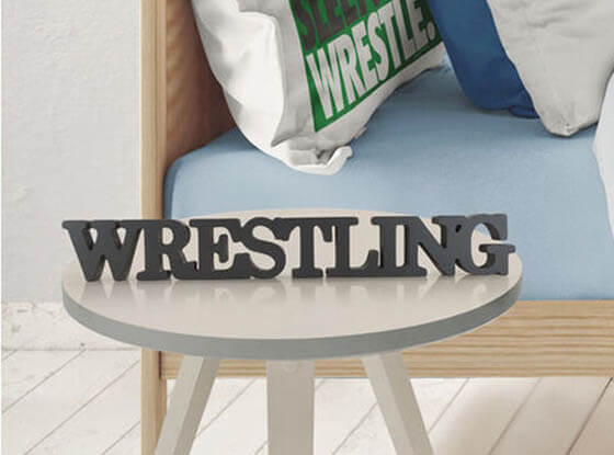 Shop Our Wrestling Wood Words