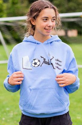 Shop Soccer Love Hooded Sweatshirt