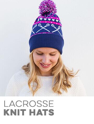 Girls Lacrosse Knit Hats