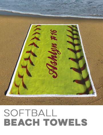 Softball Beach Towels