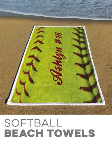 Softball Beach Towels