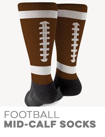 Football Printed Mid-Calf Socks